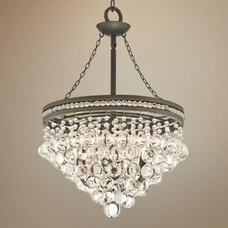 "Current Regina Olive Bronze 19"" Wide Crystal Chandelier (View 5 of 10)"