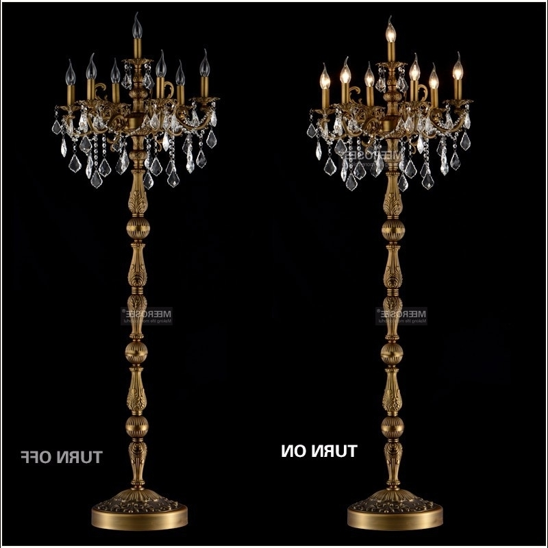 Current Standing Chandeliers With Regard To Aliexpress Buy Modern Crystal Floor Lamp Lustres Stand Standing (View 4 of 10)