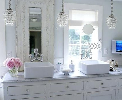 Current Top Small Chandeliers For Bathrooms Lighting Your Bathroom While With Regard To Mini Chandelier Bathroom Lighting (View 3 of 10)