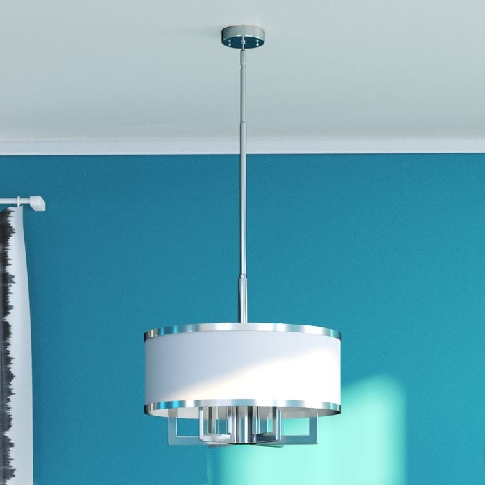 Current Turquoise Drum Chandeliers Pertaining To Bisbee 4 Light Drum Chandelier (Gallery 7 of 10)