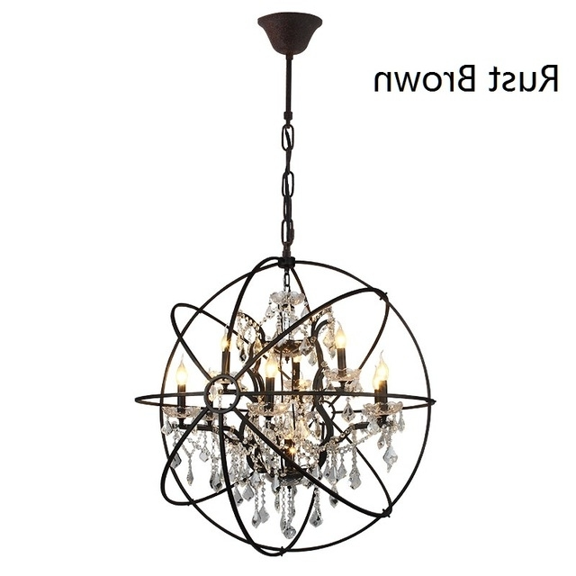 D78Cm American Country Vintage Black Chandelier Bedroom K9 Crystal Within Most Up To Date Vintage Black Chandelier (View 3 of 10)