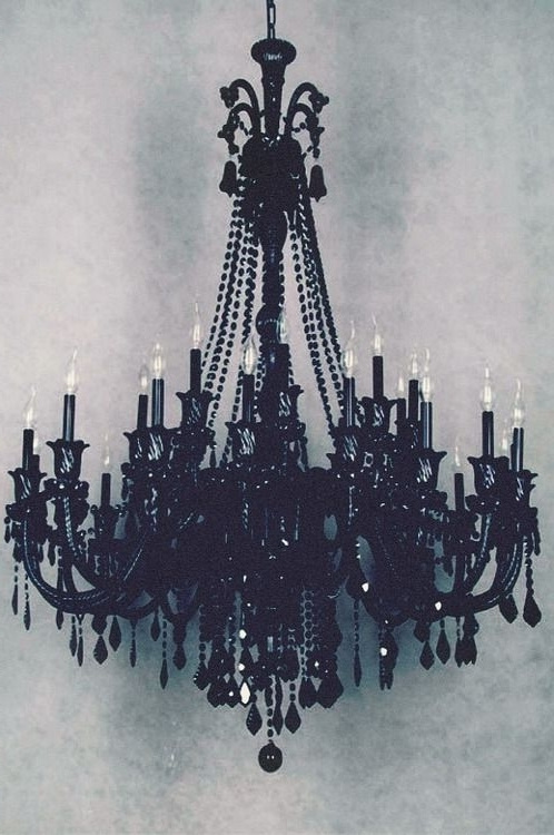 Dayday In Black Gothic Chandelier (Gallery 6 of 10)