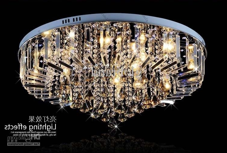 Dia 60Cm/80Cm Led Rgb Chandelier Modern Crystal Chandeliers Lamp Intended For Well Known Short Chandeliers (View 1 of 10)