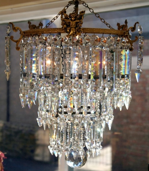 Edwardian Chandelier Throughout Widely Used An Edwardian Chandelier For The Living Room (View 5 of 10)