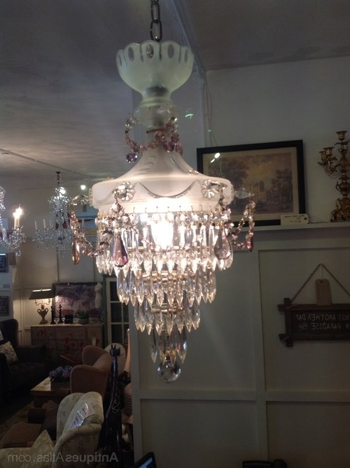 Edwardian Chandeliers With Current Antiques Atlas – Edwardian Chandelier In Frosted Glass (View 5 of 10)