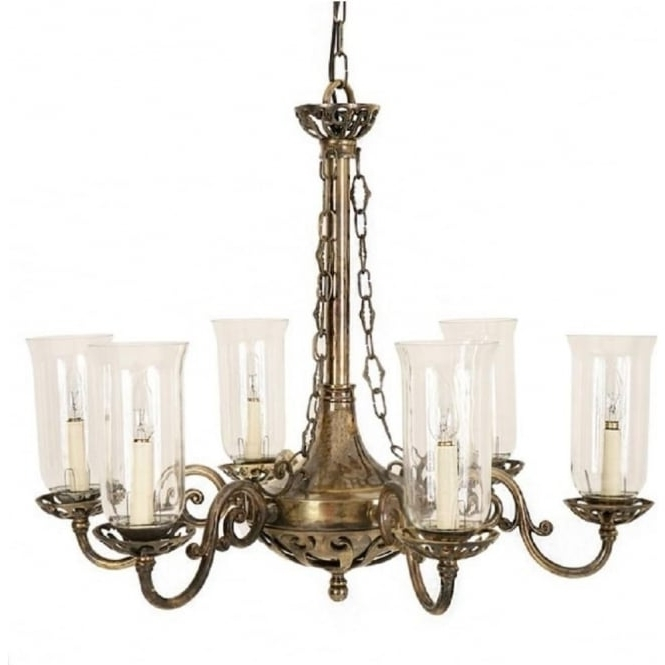 Empire Edwardian Hanging Ceiling Chandelier With Storm Glass Shades With Well Known Edwardian Chandeliers (View 7 of 10)