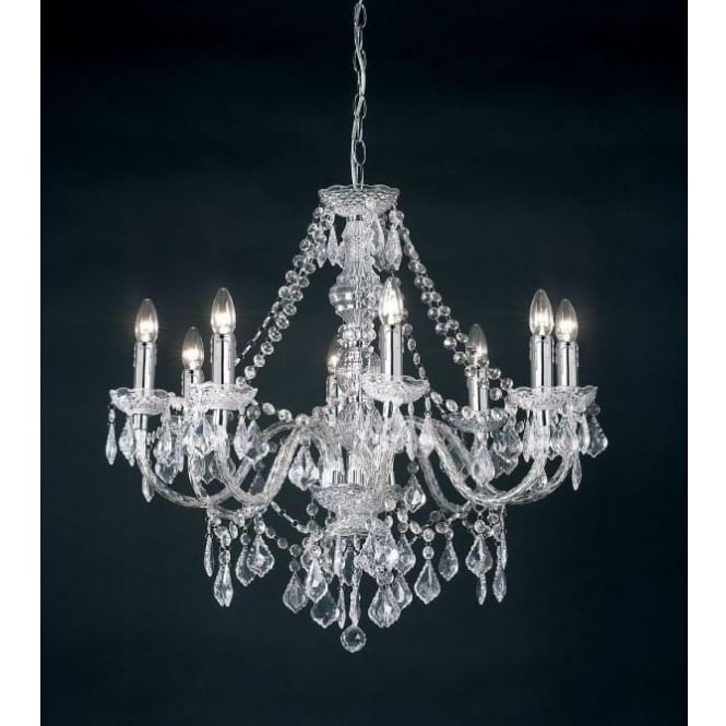 Endon Lighting Clarence 8 Light Acrylic Crystal Chandelier Inside Current Endon Lighting Chandeliers (Gallery 2 of 10)