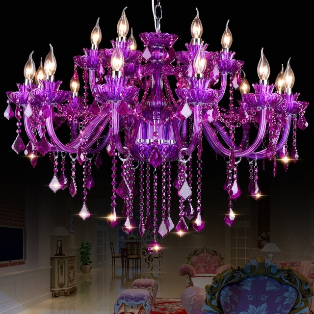 Featured Photo of Purple Crystal Chandelier Lighting