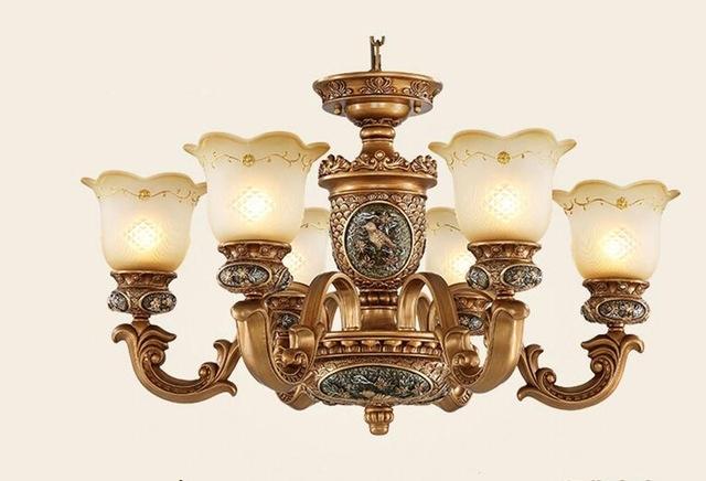 European Style Antique Chandeliers Lamps 6 Lights Bedroom Dining In Newest Vintage Chandeliers (View 1 of 10)
