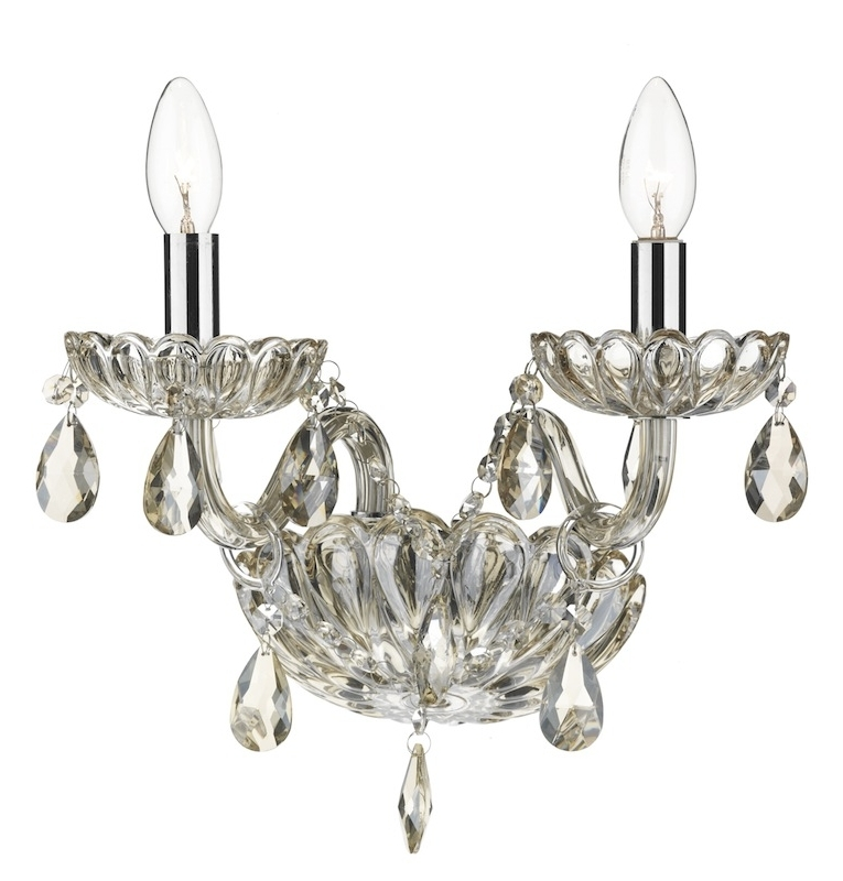 Evangelina Champagne Glass Wall Light Intended For Most Recent Chandelier Wall Lights (View 10 of 10)