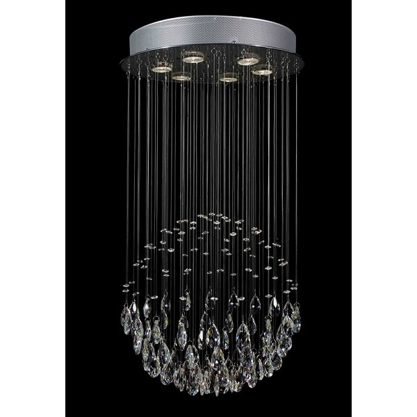 Everly Quinn Antoninus 6 Light Chrome Waterfall Chandelier & Reviews Pertaining To Popular Waterfall Chandeliers (Gallery 7 of 10)