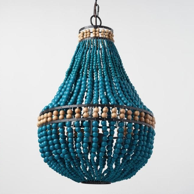 Everything Turquoise In Turquoise Blue Beaded Chandeliers (View 4 of 10)