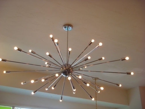 Extra Large Chrome Atomic Sputnik Starburst Light Fixture Large Throughout Well Liked Chrome Sputnik Chandeliers (View 5 of 10)