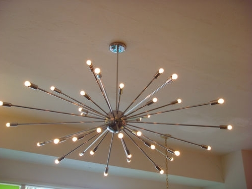 Extra Large Modern Chandeliers In Popular Extra Large Chrome Atomic Sputnik Starburst Light Fixture Chandelier (View 2 of 10)