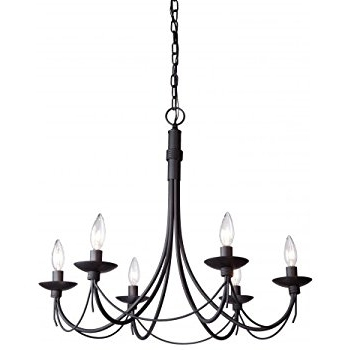 Eye Catching Black Iron Chandelier On Artcraft Lighting Wrought 25 Intended For Popular Black Iron Chandeliers (View 6 of 10)