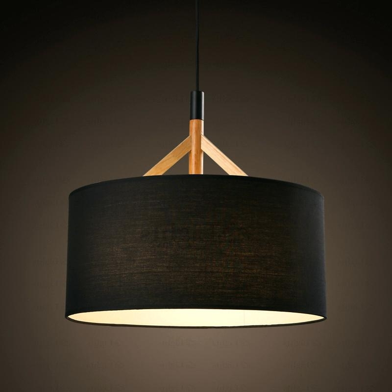 Fabric Drum Shade Chandelier Brief Drum Pendant Light Fabric Shade Throughout Famous Fabric Drum Shade Chandeliers (View 2 of 10)