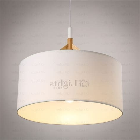 Fabric Drum Shade Chandeliers With Most Recently Released Large Drum Shade Pendant Lights – Lighting (View 7 of 10)