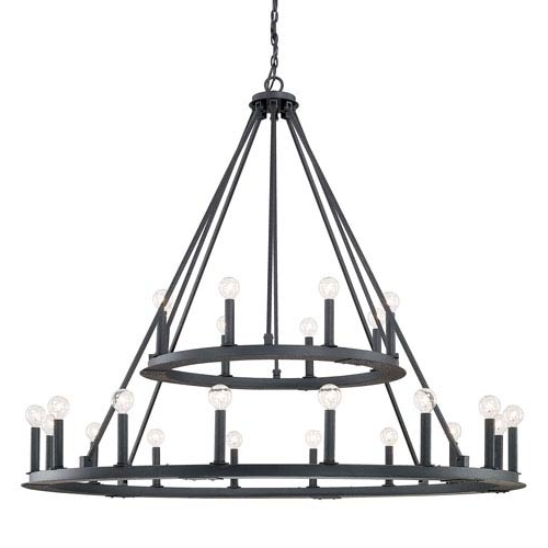 Famous Capital Lighting Fixture Company Pearson Black Iron Twenty Four With Regard To Iron Chandelier (View 5 of 10)