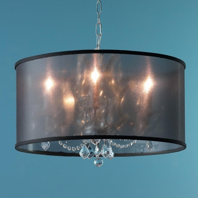 Famous Drum Lamp Shades For Chandeliers Within Drum Lamp Shade Chandelier Shades For Chandeliers The Aquaria  (View 5 of 10)