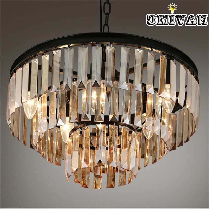 Famous French Glass Chandelier Within Vintage French Glass Crystal Chandelier Light Fixture Black Cottage (View 5 of 10)