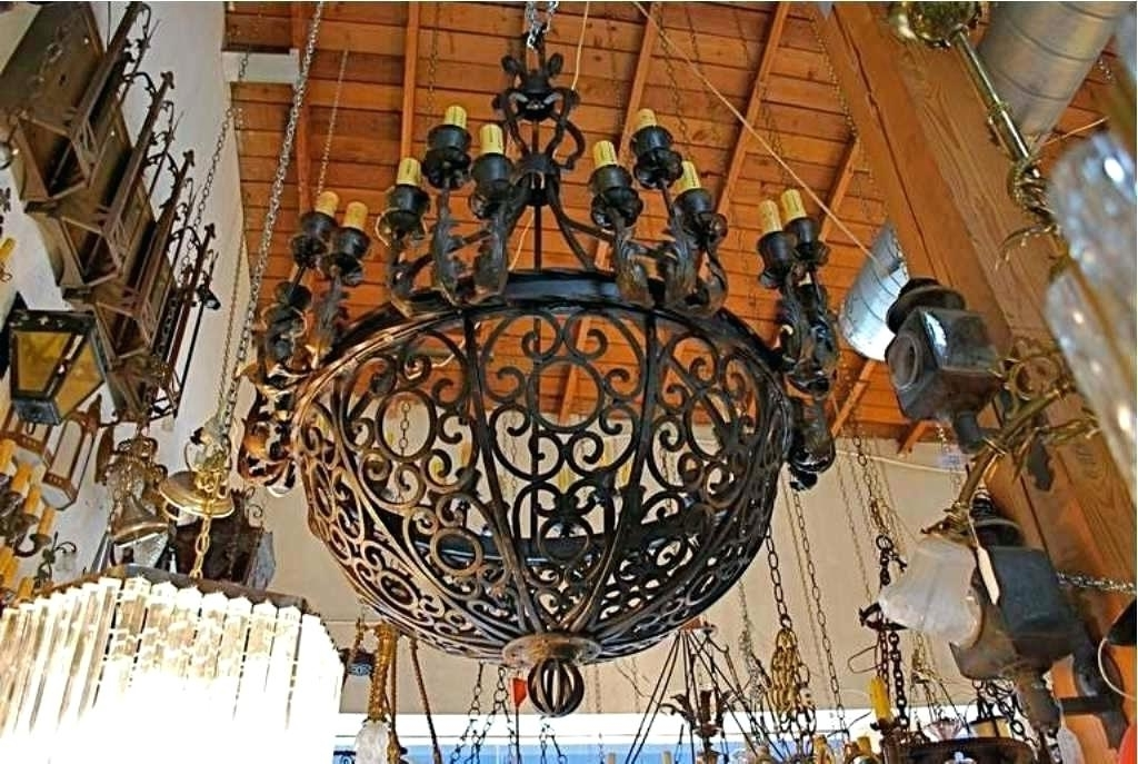 Famous Large Iron Chandelier Throughout Large Spanish Iron Chandelier – Chandelier Designs (View 3 of 10)