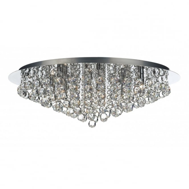 Famous Pluto Large Chrome & Crystal Chandelier For Low Ceilings With Regard To Low Ceiling Chandelier (View 3 of 10)