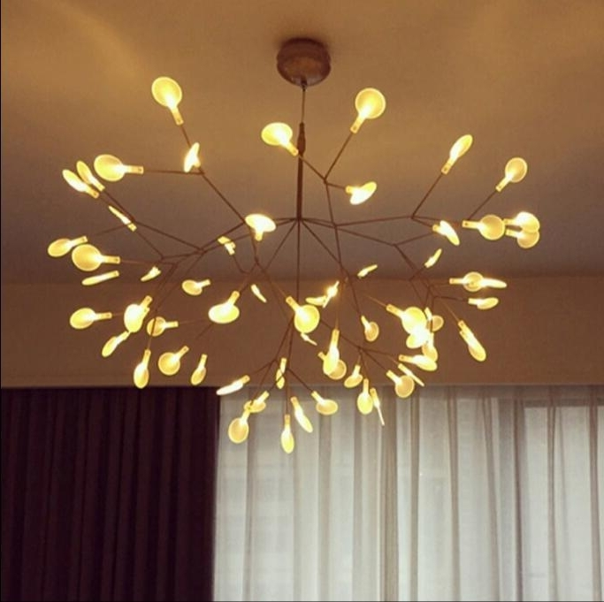 Famous Short Chandelier Lights Within Moooi Heracleum Small Led Chandelier Lighting Firefly Pendant Light (View 5 of 10)