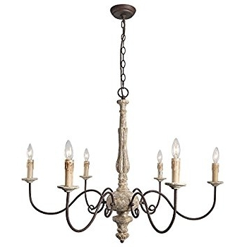 Famous Vanity French Country Chandelier In Laluz 6 Light Shabby Chic In French Country Chandeliers (View 1 of 10)