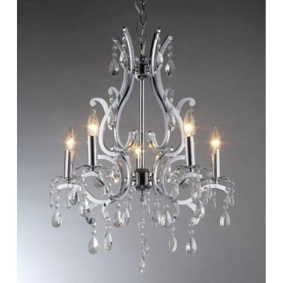 Famous Zspmed Of Chrome Chandelier Nice With Additional Small Home In Small Chrome Chandelier (View 5 of 10)
