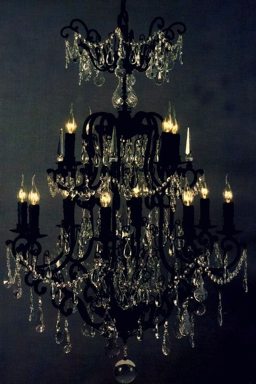 Fashionable 40 Sea Shell Art And Crafts Adding Charming Accents To Interior Regarding Black Gothic Chandelier (View 7 of 10)