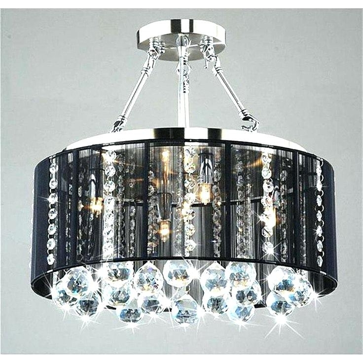 Fashionable Black Chandeliers With Shades Intended For Black Chrome Chandelier – Wecanhelpyou (View 4 of 10)