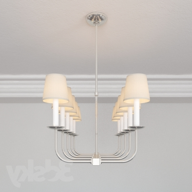 Fashionable Branched Chandelier Pertaining To 3D Models: Ceiling Light – Visual Comfort Sl5863Pn Ef Chapman Linear (View 5 of 10)