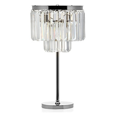 Fashionable Brilliant Crystal Table Lamp Luxe Lighting Collection Z Gallerie Intended For Small Crystal Chandelier Table Lamps (View 4 of 10)
