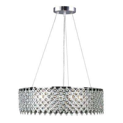Fashionable Decor Living – Crystal – Chandeliers – Lighting – The Home Depot Inside Crystal Chrome Chandelier (View 6 of 10)