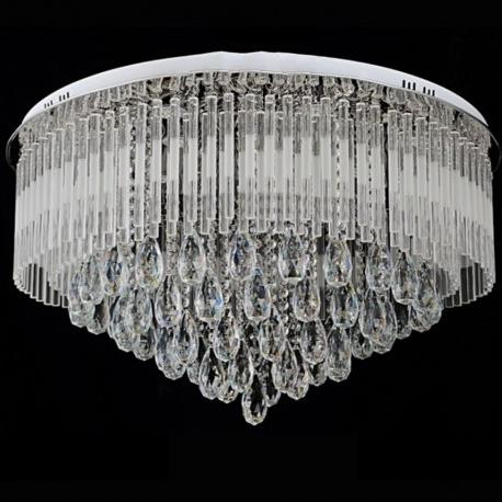 Fashionable Flush Chandelier Regarding 65/80 Cm Modern Round K9 Crystal Led Flush Ceiling Light Chandelier (View 3 of 10)