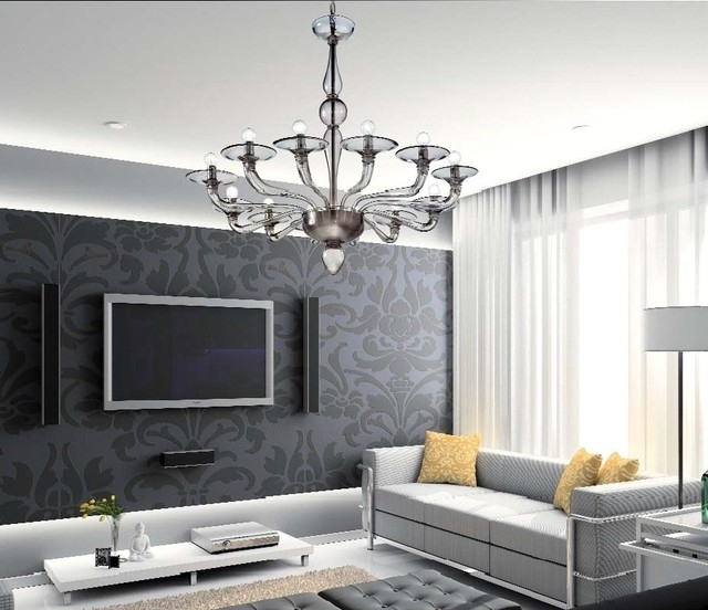 Fashionable Murano Glass Lighting And Chandeliers – Location Shotsd – Modern Throughout Living Room Chandeliers (View 1 of 10)