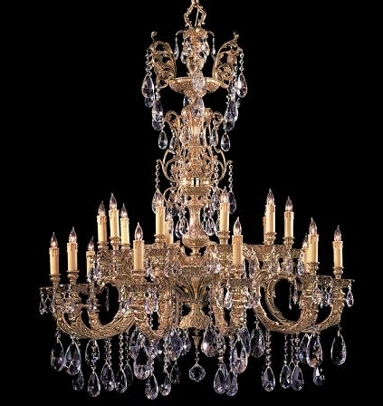 Fashionable Ornate Chandeliers In Large Crystal Chandeliers For Big, Luxurious Spaces Are Introduced (View 2 of 10)