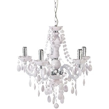 Fashionable Reality R1107 01 Luster Chandelier With Chrome, White: Amazon.co (View 2 of 10)