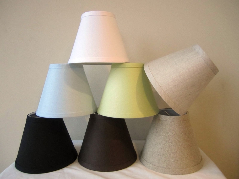 "Fashionable Small Chandelier Lamp Shades For Urbanest Linen Mini Chandelier Lamp Shade, Clip On, Hardback, 3""x  (View 1 of 10)"