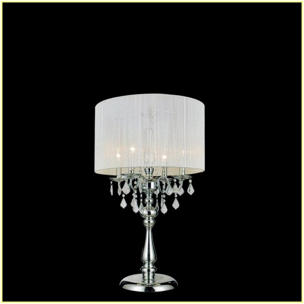 Fashionable Small Crystal Chandelier Table Lamps In Crystal Chandelier Table Lamp Shades Home Design Ideas Throughout (View 5 of 10)