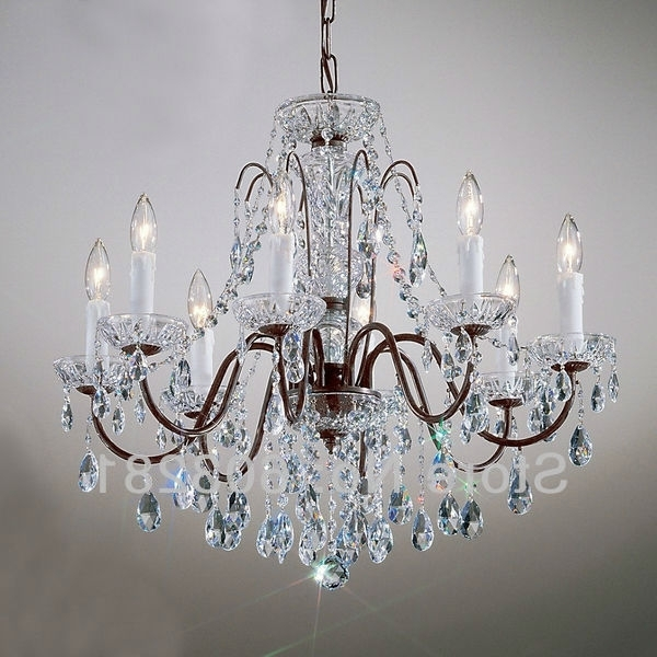 Fashionable Traditional Chandeliers With Regard To Classic Traditional Chandelier Atn2353 8 Light, Pellucid Crystal (View 6 of 10)