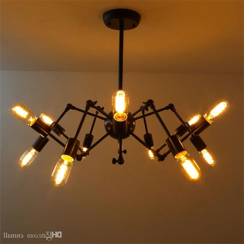 Fashionable Vintage Style Chandeliers Intended For New Spider Chandelier Vintage Wrought Iron Pendant Lamp Loft (View 2 of 10)