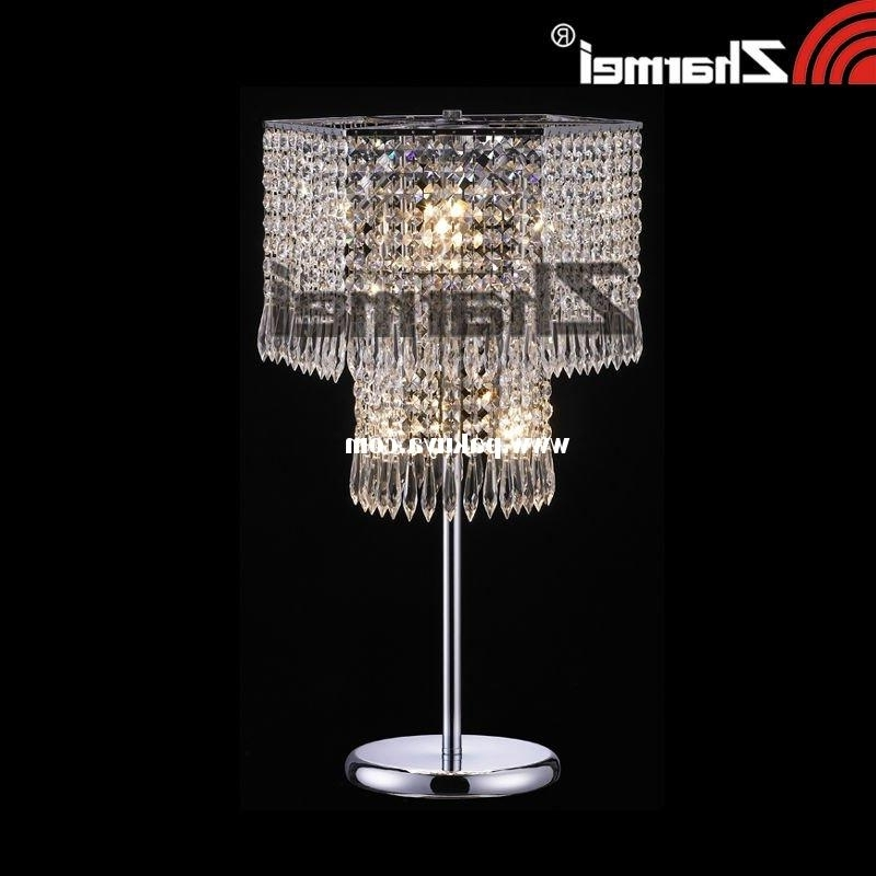 Faux Crystal Chandelier Table Lamps Regarding Trendy Chandelier Desk Lamps Picture Yvotube Intended For Modern Home (View 4 of 10)