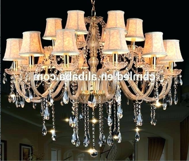 Faux Crystal Chandeliers Faux Crystal Chandelier Faux Crystal With Regard To Popular Faux Crystal Chandelier Wedding Bead Strands (View 6 of 10)