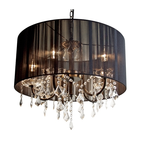 Favorite Black Chandelier Intended For Black String Shade Chandelier (View 5 of 10)