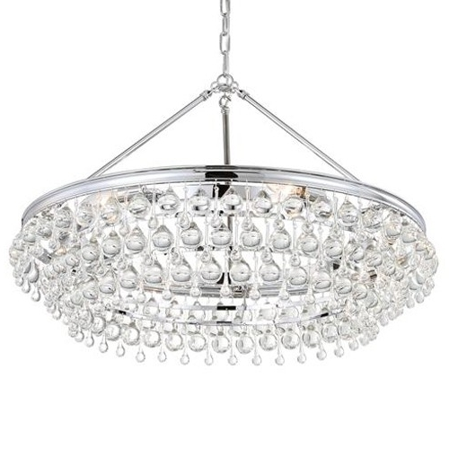 Favorite Chandelier Chrome With Regard To Crystorama Calypso Chandelier – Chrome (View 6 of 10)