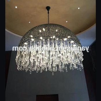 Favorite Extra Large Chandelier Lighting Intended For Drop Crystal Chandelier New Design Extra Large Lobby Rain Drop (View 6 of 10)