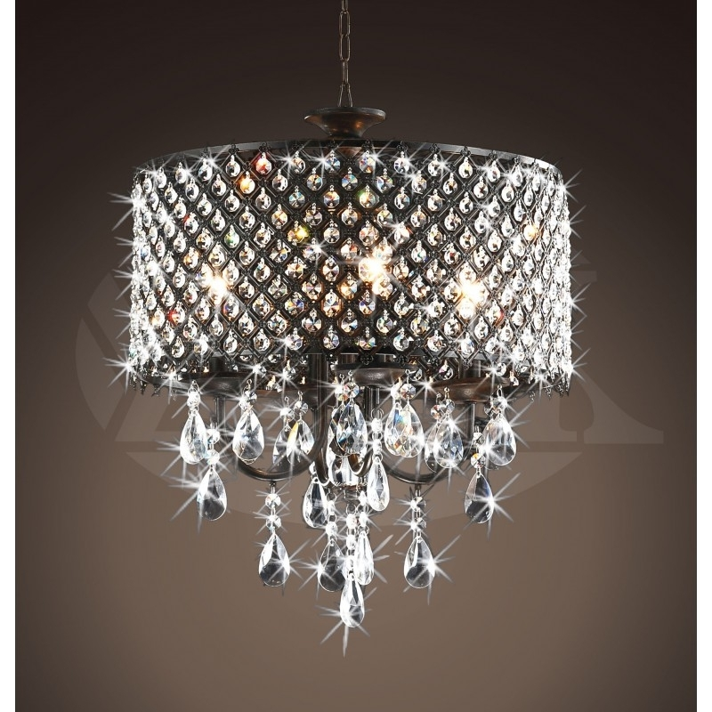 Favorite Home Design : Bronze And Crystal Chandelier Bronze And Crystal Regarding Bronze And Crystal Chandeliers (View 6 of 10)