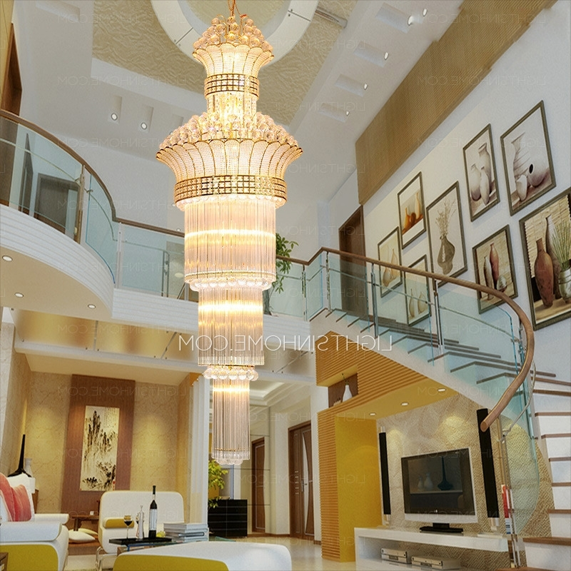 Favorite Huge Crystal Chandelier Pertaining To Huge 17 Light Hardware Foyer Empire Crystal Chandelier (View 3 of 10)