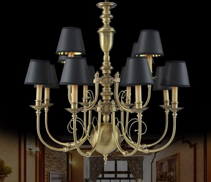 Favorite Large Antique Brass Chandeliers : Lamp World Pertaining To Large Brass Chandelier (View 5 of 10)